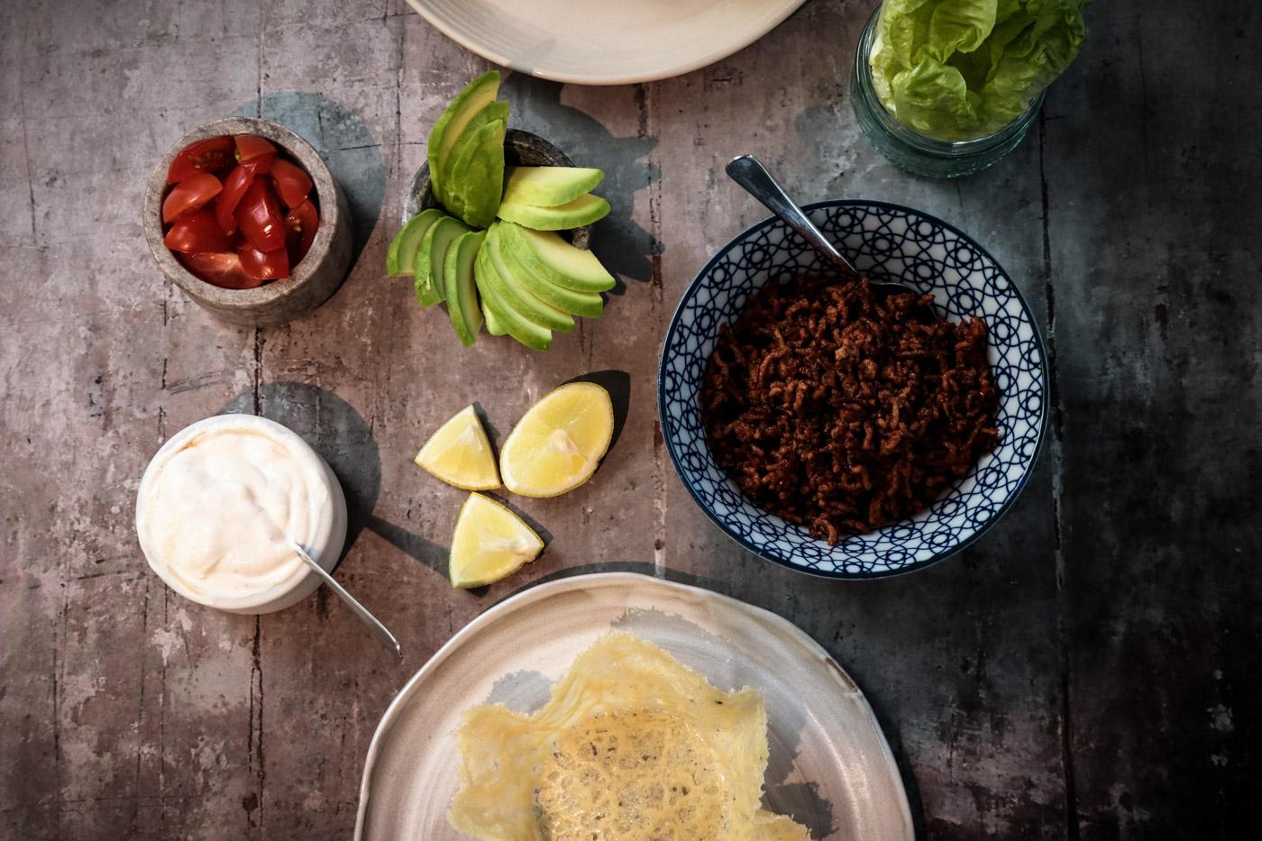 Mexican Parmesan Taco Cups