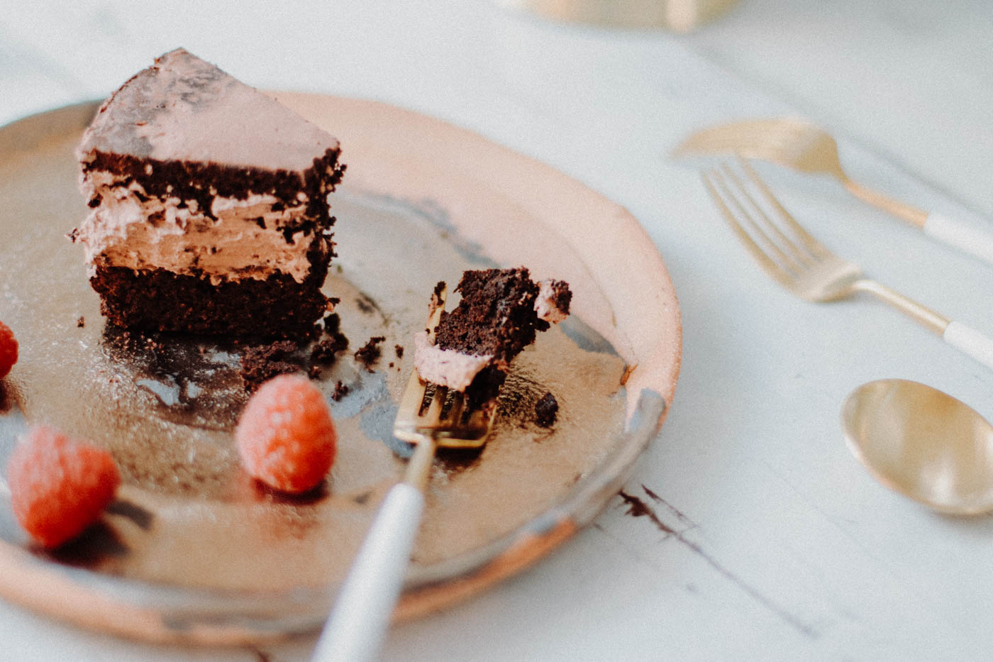 A {Low-Carb} Birthday Cake: Dark, Moist and Rich Chocolate Mousse Cake