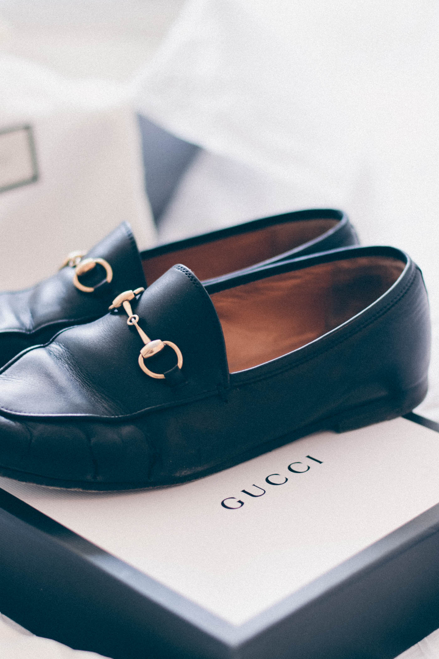 destroyed Gucci loafers