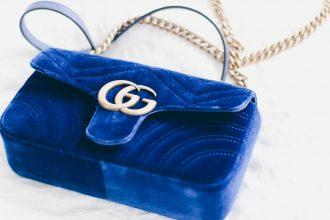 Gucci Marmont Blue Velvet