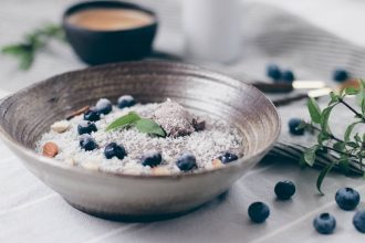 Keto Blueberry Porridge