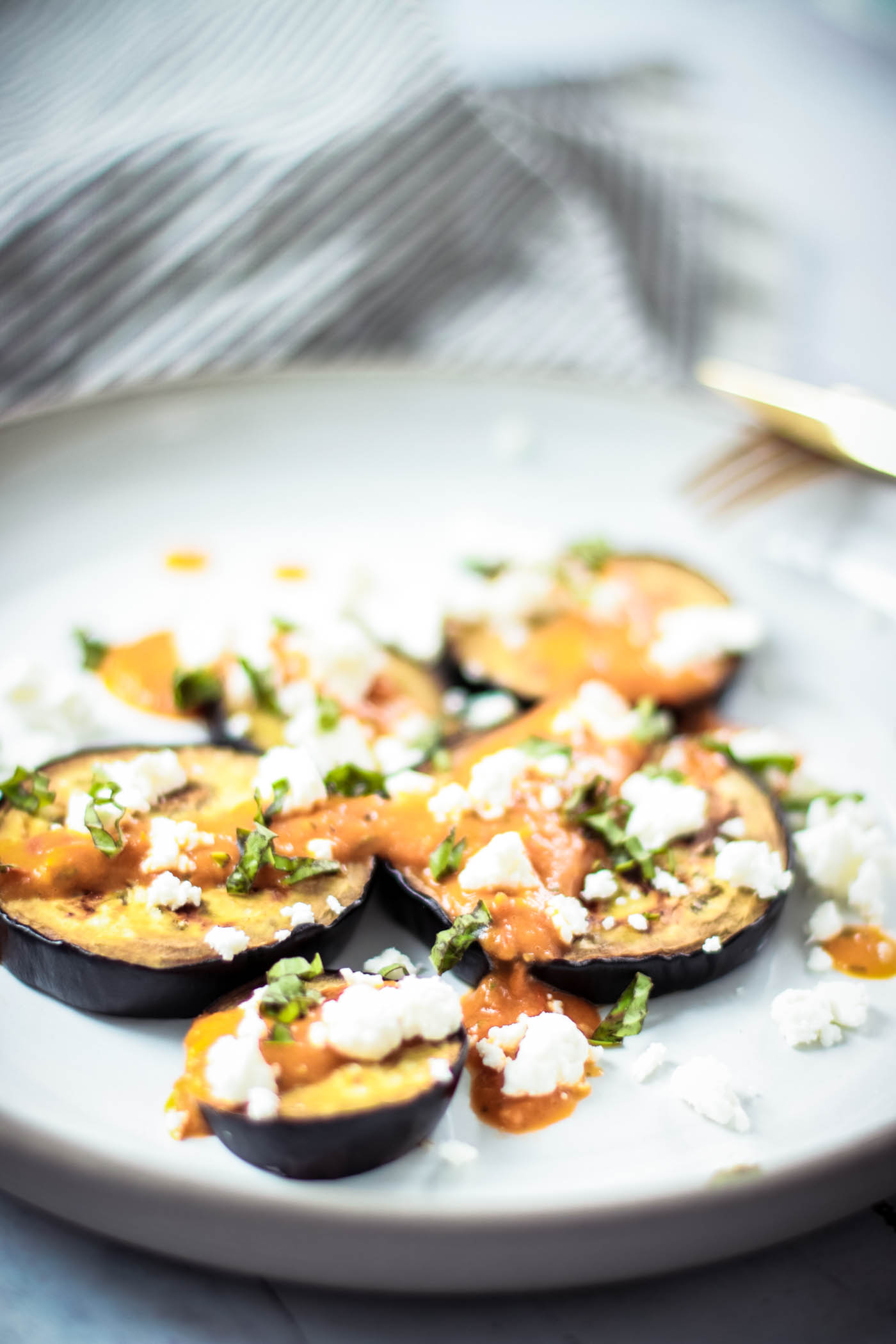 Low-carb lunch: Grilled Eggplant - Gegrillte Aubergine 5
