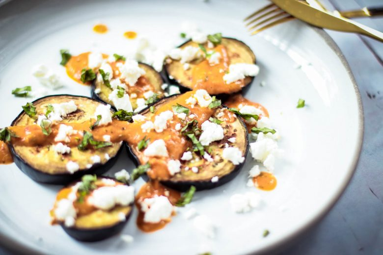 Low-carb lunch: Grilled Eggplant - Gegrillte Aubergine 6