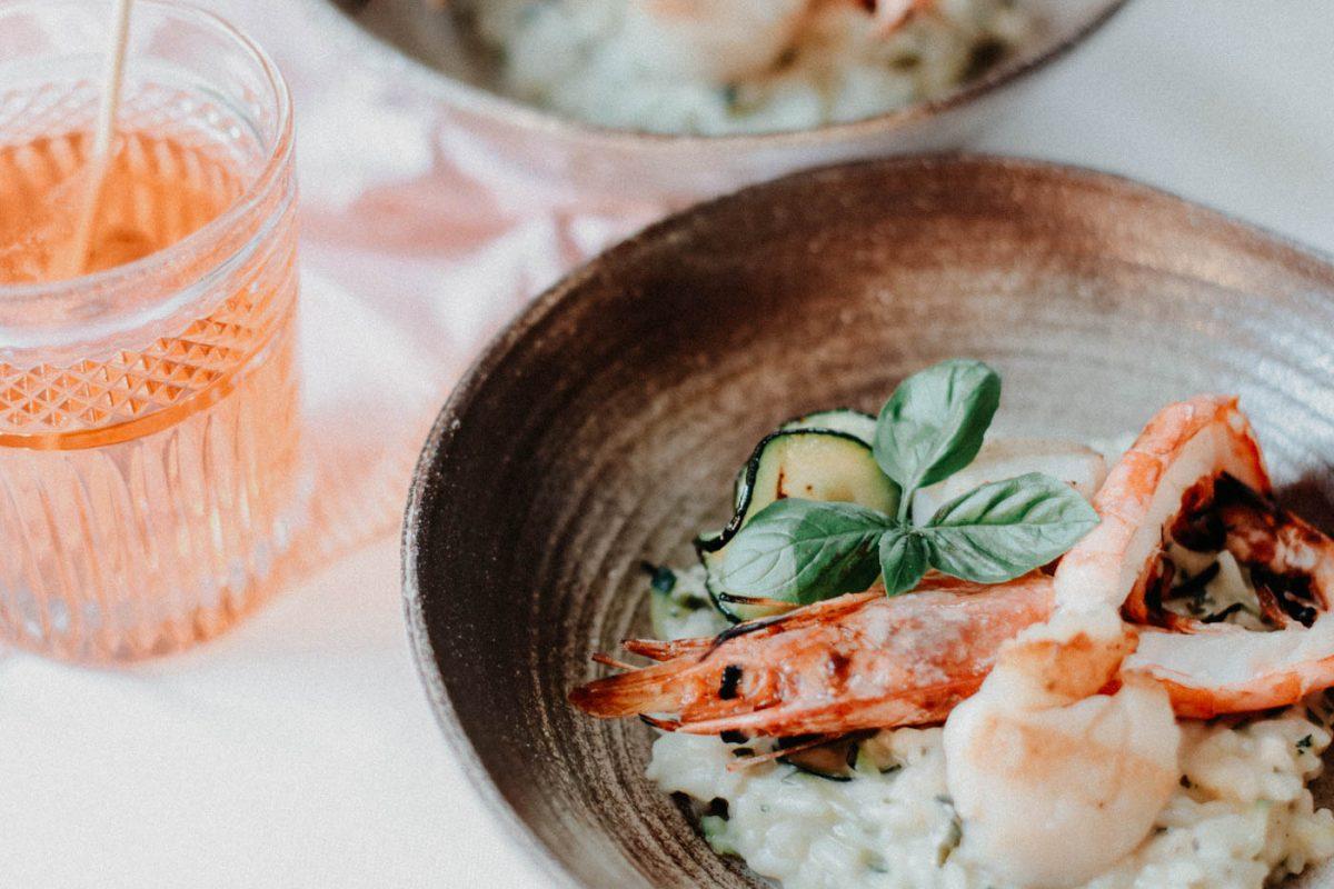 Zucchini Risotto - Courgette Risotto with Shrimps 9