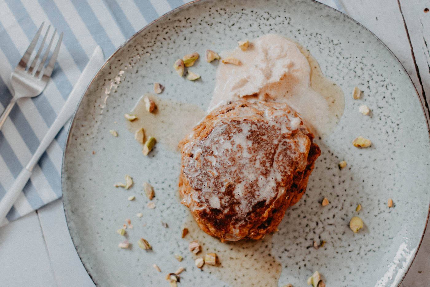 Low Carb Pumpkin Ricotta Pancakes Is there a better way of celebrating fall season than with a stack of utterly delicious and comforting Pumpkin Spice Ricotta Pancakes?